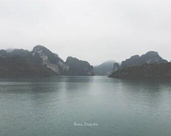 photo print beautiful landscape scenery misty ocean sea ethereal