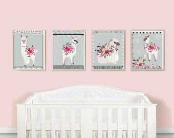 Alpaca Home Decor, Alpaca Baby Nursery, Nursery Room Decor, Alpaca Llama Art, Alpaca Digital Art, Baby Nursery Art, Modern Baby Nursery Art,