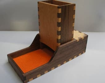 Dice Tower and Dice Tray with Storage (S) - Hardwood