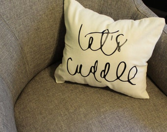Let's Cuddle Small Decorative Pillow