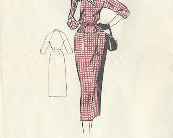 "1953 Vintage Sewing Pattern B34"" DRESS (R232)  By Leach-Way 13779"