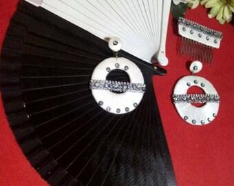 Set of earrings and peina