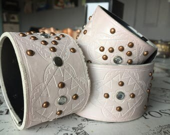 Pale pink cuff bracelet