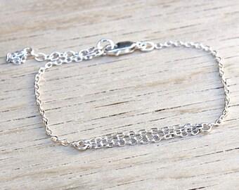 silver bracelet 925 fine chains