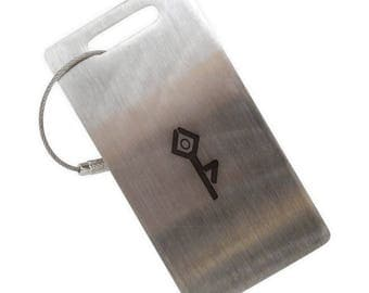 Standing Tree Yoga Stainless Steel Luggage Tag