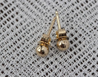 Natural 14k Solid Yellow Gold Earrings