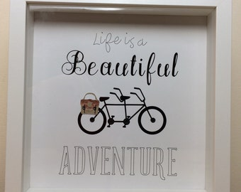 Life is a Beautiful Adventure Tandem 9x9 Box Frame