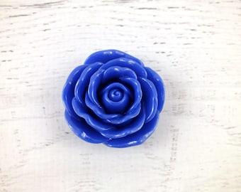 Royal Blue Large Flower bead