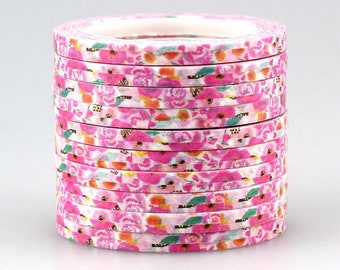 Washi tape 4 mm 10 m 1 piece variegated colors in vintage style (Number 5)