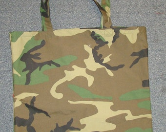 Camouflage Waterproof Fabric Graocery Tote Bag