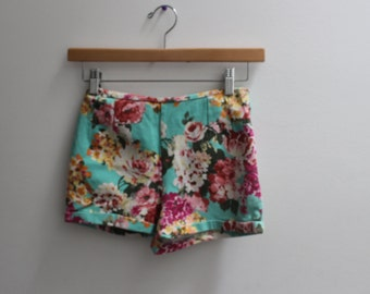 floral colorful 90's 70's vintage tight shorts
