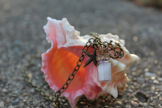 Shipwrecked - mini cork bottle necklace