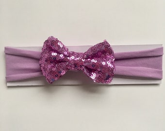 Lavender Bow Headband, Hair Bows, Baby Bows, Bow Headbands, Baby Headbands, Lavender Hair Bow, Baby Girl Bows, Toddler Headbands, Headband