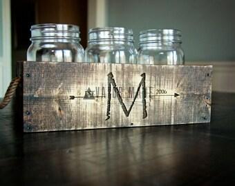 Rustic Mason Jar Centerpiece