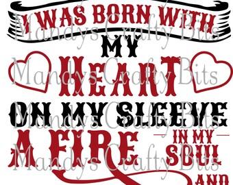 SVG Falcons I Wear my Heart On My Sleeve