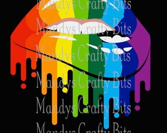 SVG and PNG  Gay Pride Lips