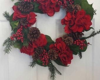 Christmas wreath / holiday wreath / front door wreath / door wreath/ door decor