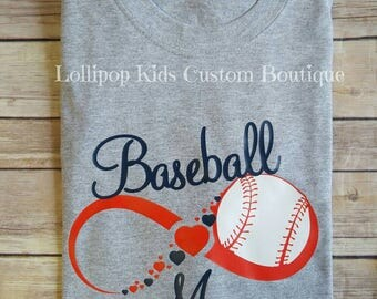 Baseball Mom- grey or white short sleeve shirt
