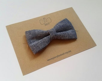Boy's, Toddler, Baby, Denim Blue Bow Tie
