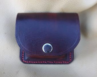 Molded leather shell pouch