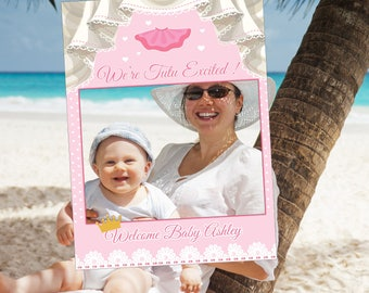 Baby Shower Photo Booth Frame , Baby Shower Frame Prop , Tutu, Girl, Baby
