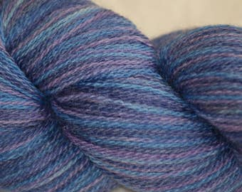 "Wool/ Silk Hand-painted Lace Yarn ""Perdita"""