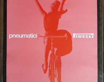 "Original vintage advertising poster ""Pneumatici Pirelli"" by Massimo Vignelli 1950s"