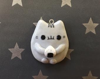 Kawaii Cat Eating Sushi Charm Adorable Filofax Planner Charm