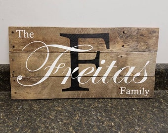 Custom Name  Sign, Wedding Gift Sign, Pallet Last Name Sign, Personalized Wood Sign, Rustic Sign, Established Date Family Sign,