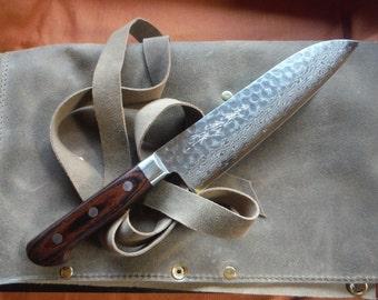 Handforged Yoshihiro Damascus Santoku / Japanese Knife / Chef Knife / Vegetable knife / Kitchen Knife (180mm) - Last One!