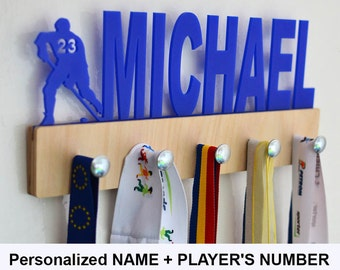 Personalized Hockey Medal Holder,Personalized Name Medal Holder,Hockey Holder,Custom Medal Holder,Hockey Gift,Hockey Accessories,Ice Hockey