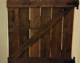 Barn Door Baby Gate Rustic Baby Gate Wooden Baby Gate Dog Gate