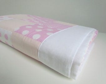 Pink Dotty Cot Quilt
