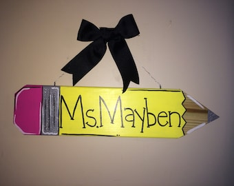 Personalized Wooden Pencil Signs