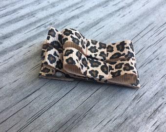 Cheetah Hair Clips / Cheetah Baby Bows / Leopard Bows / Small Bows