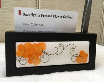 Pressed Flower Business card holder