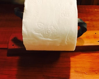 Hand forged toilet paper holder