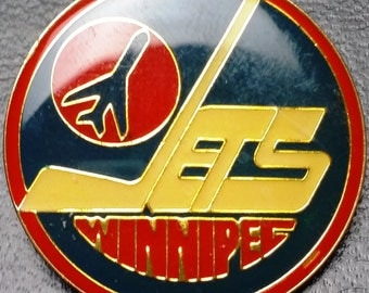 Vintage 1980s Winnipeg Jets NHL Pin - Officially Licensed Hockey Memorabilia - Great Collectible Gift!