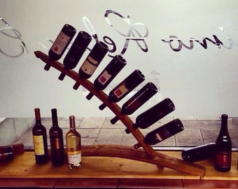 Arched wine rack