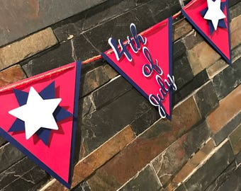 Fourth of July banner! Party banner, party decor, Independence Day banner
