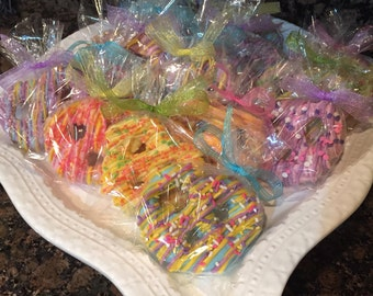 Easter Original Colored Chocolate Pretzels/Spring/ Birthday Parties/Hostess Gift/Thank You Gift/Easter Treats