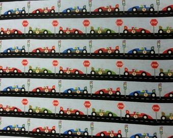 Racing Car Nursery Fabric 100% Cotton Material By Metre Curtains Patchwork Cushions Bags Bunting