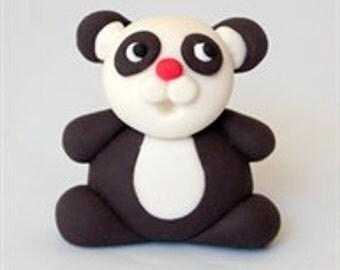 Panda bear, Fondant, Cake toppers,3d Edible, Panda bear cake designs, Panda fondant cupcake, Animal cake decorations edible, Baby panda cake