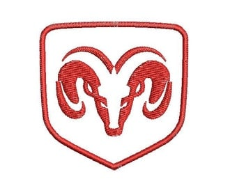 6 sizes dodge embroidery design car logo embroidery designs ram machine embroidery instant download dodge design dodge pattern cars - Dodge Ram Logo