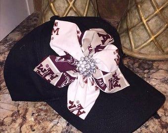 Texas atm cap, Aggies cap, womens aggie cap, bling hat, trucker hat