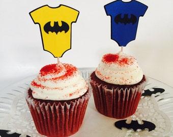 Batman Onesie Cupcake Toppers