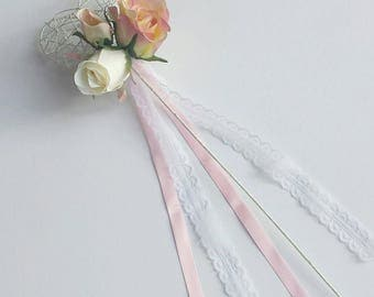 Heart Shaped Flower Girl Wand