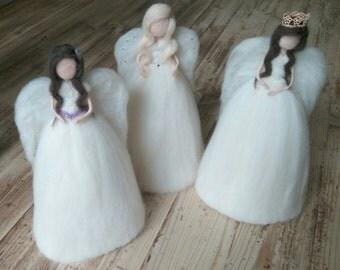 Needle Felt Christmas Tree Topper Angels