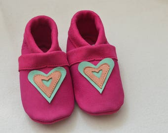 Kids slipper, leather slippers, baby shoes, baby shoes,