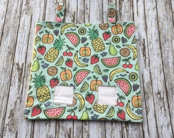 Adorable Fruit Print Hay Bag for Chinchillas, Rabbits and Guinea Pigs